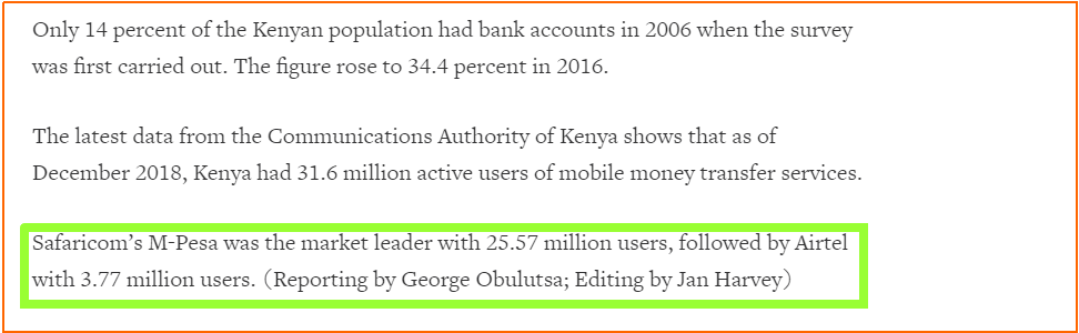 Mpesa as means of Banking in Kenya